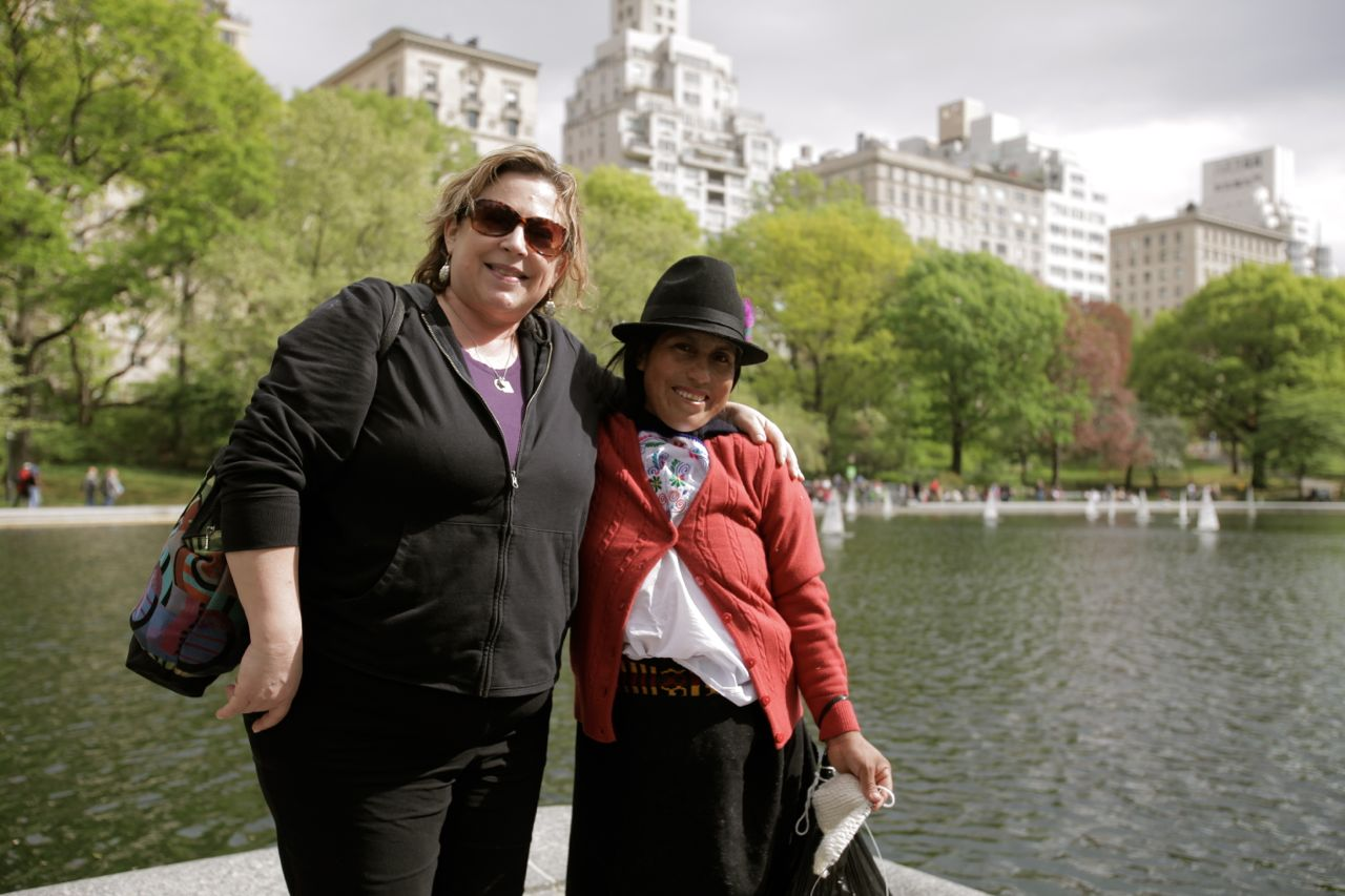Sandy's mother with Carmen in Central Park