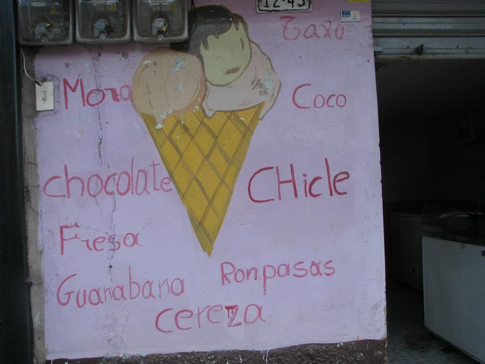 The shop where Gregorio buys ice cream cones
