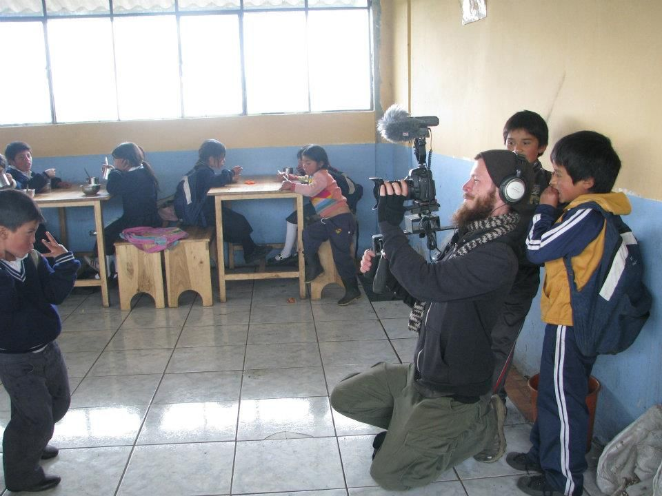At the school cafeteria