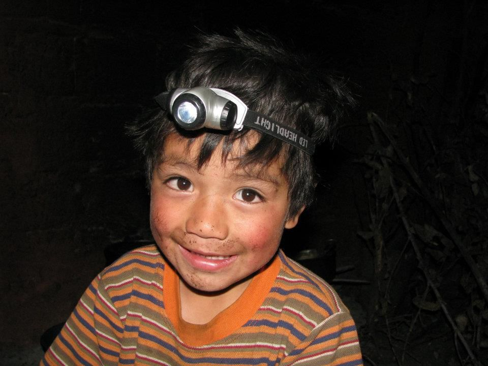Jefferson, Maria's son, likes our headlamps